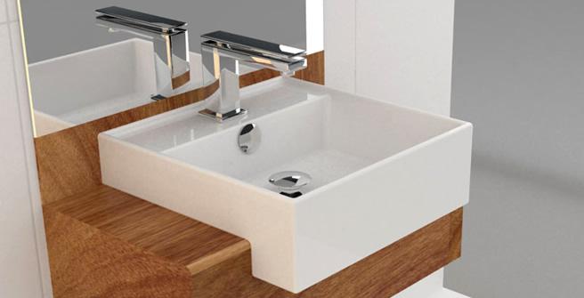 Blog da Cimcal  Cubas Como escolher o modelo ideal para o seu banheiro -> Cuba Para Banheiro De Semi Encaixe Branca Icasa